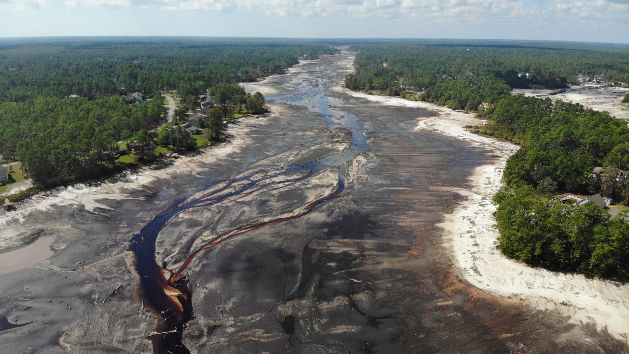 post hurricane destruction of lake 2 - emergency response